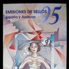 Sellos: LIBRO OFICIAL DE CORREOS AÑO 1995 CON LA EMISION DE SELLOS DE ESPAÑA Y ANDORRA. Lote 212057847