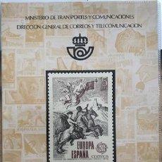 Sellos: LIBRO CARPETA OFICIAL DE CORREOS AÑO 1979 CON LA EMISION DE SELLOS DE ESPAÑA Y ANDORRA. Lote 212059996