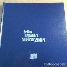 Sellos: LIBRO OFICIAL DE CORREOS AÑO 2008 CON TODAS LAS EMISIONES DE SELLOS DE ESPAÑA Y ANDORRA DEL AÑO 2008. Lote 212062225