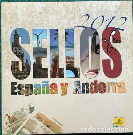 LIBRO OFICIAL DE CORREOS AÑO 2012 CON TODAS LAS EMISIONES DE SELLOS DE ESPAÑA VALORES EN EL TIEMPO (Sellos - España - Juan Carlos I - Desde 2.000 - Nuevos)