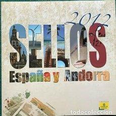 Sellos: LIBRO OFICIAL DE CORREOS AÑO 2012 CON TODAS LAS EMISIONES DE SELLOS DE ESPAÑA Y ANDORRA DEL AÑO 2012. Lote 212064066