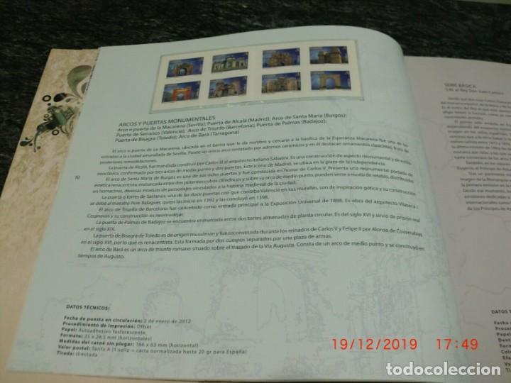 Sellos: Libro oficial de correos año 2012 con todas las emisiones de sellos de España Valores en el tiempo - Foto 3 - 212064066