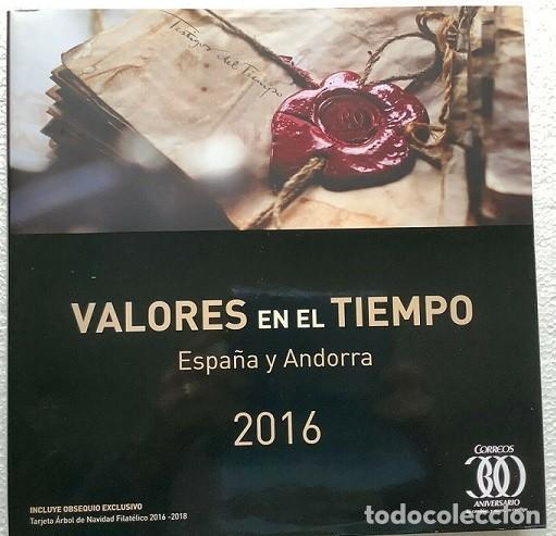 Sellos: Valores en el tiempo año 2016 Libro oficial de correos con la emision de sellos de España y Andorra - Foto 2 - 212065817