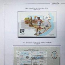 Sellos: ESPAÑA SELLOS AÑO 1987 EN BLOQUE DE 4 Y HOJAS FILABO EN NEGRO HFBS80 87 VER IMAGENES. Lote 212082347