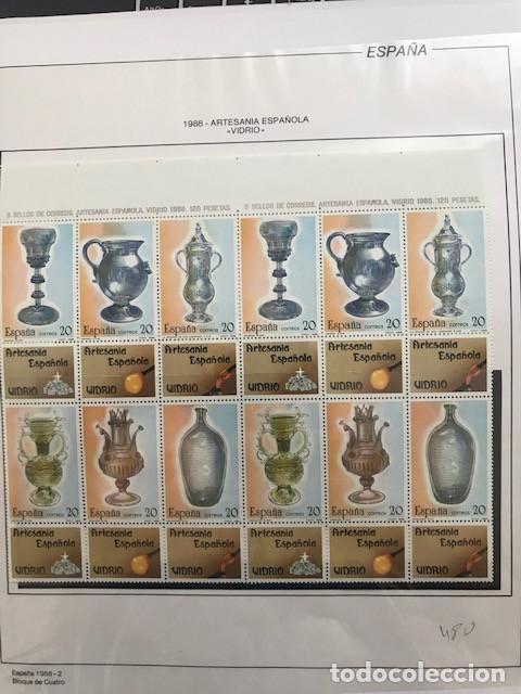 Sellos: España sellos año 1988 en bloque de 4 y Hojas FILABO en negro HFBS80 88 VER IMAGENES - Foto 2 - 212103137