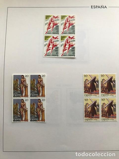 Sellos: España sellos año 1988 en bloque de 4 y Hojas FILABO en negro HFBS80 88 VER IMAGENES - Foto 3 - 212103137