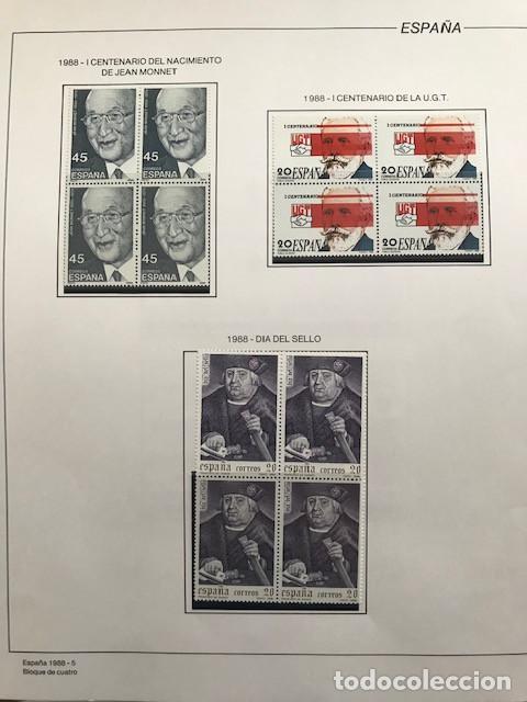 Sellos: España sellos año 1988 en bloque de 4 y Hojas FILABO en negro HFBS80 88 VER IMAGENES - Foto 7 - 212103137