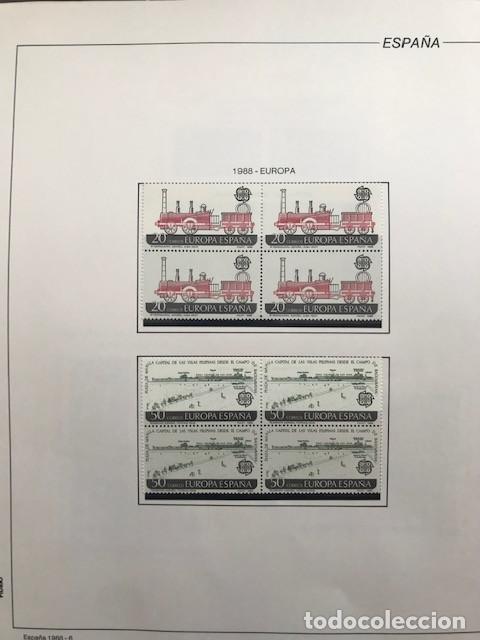 Sellos: España sellos año 1988 en bloque de 4 y Hojas FILABO en negro HFBS80 88 VER IMAGENES - Foto 8 - 212103137