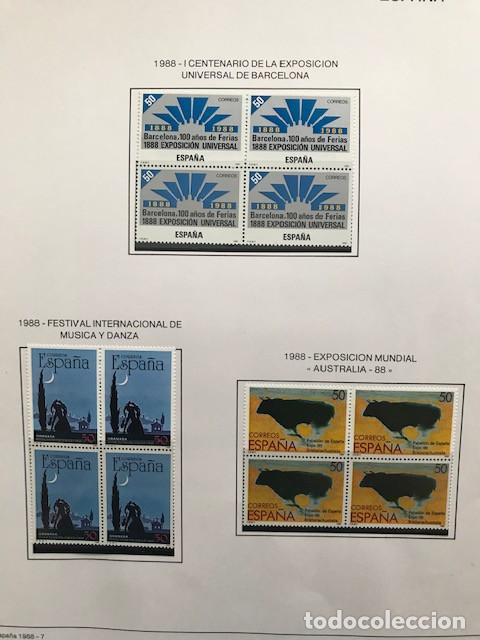 Sellos: España sellos año 1988 en bloque de 4 y Hojas FILABO en negro HFBS80 88 VER IMAGENES - Foto 9 - 212103137