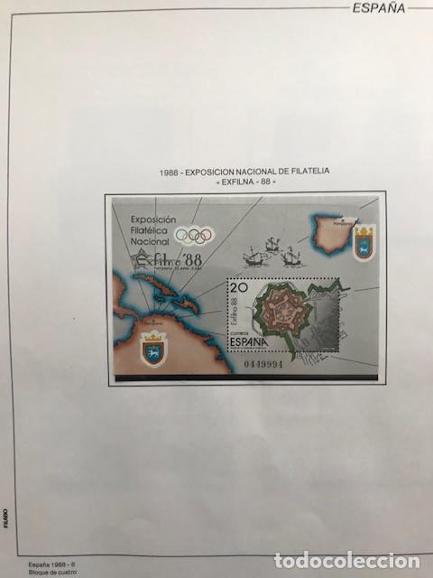 Sellos: España sellos año 1988 en bloque de 4 y Hojas FILABO en negro HFBS80 88 VER IMAGENES - Foto 10 - 212103137