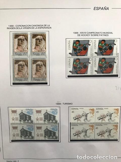 Sellos: España sellos año 1988 en bloque de 4 y Hojas FILABO en negro HFBS80 88 VER IMAGENES - Foto 11 - 212103137