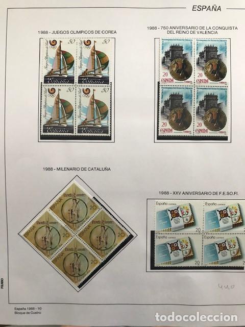 Sellos: España sellos año 1988 en bloque de 4 y Hojas FILABO en negro HFBS80 88 VER IMAGENES - Foto 12 - 212103137
