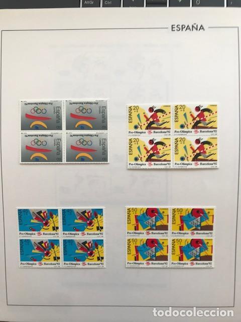 Sellos: España sellos año 1988 en bloque de 4 y Hojas FILABO en negro HFBS80 88 VER IMAGENES - Foto 13 - 212103137