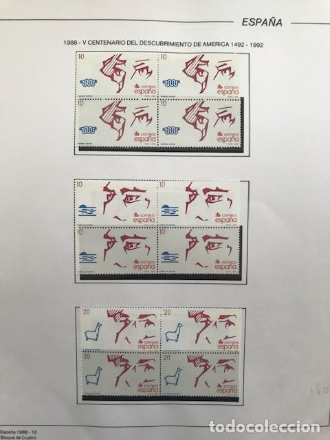 Sellos: España sellos año 1988 en bloque de 4 y Hojas FILABO en negro HFBS80 88 VER IMAGENES - Foto 15 - 212103137