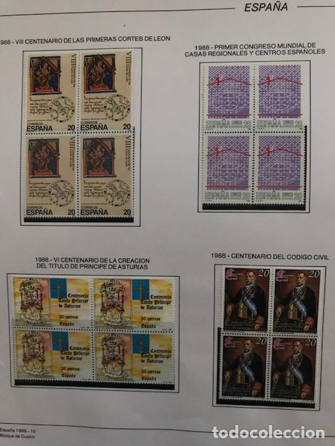 Sellos: España sellos año 1988 en bloque de 4 y Hojas FILABO en negro HFBS80 88 VER IMAGENES - Foto 19 - 212103137