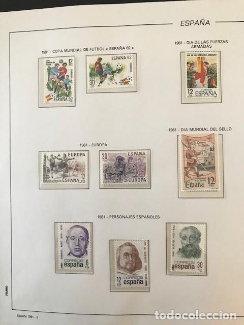 Sellos: España sellos año 1981 completo con Suplemento Hojas Filabo España año 1981 EN TRANSPARENTE HFS 81 - Foto 3 - 212256670