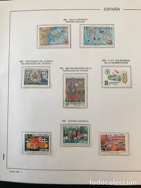 Sellos: España sellos año 1981 completo con Suplemento Hojas Filabo España año 1981 EN TRANSPARENTE HFS 81 - Foto 5 - 212256670