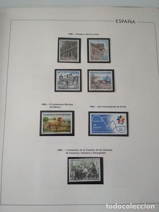 ESPAÑA SELLOS AÑO 1986 CON HOJAS EDIFIL 1986 MONTADAS EN NEGRO HES80 86 LEER (Sellos - España - Juan Carlos I - Desde 1.975 a 1.985 - Nuevos)