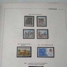 Sellos: ESPAÑA SELLOS AÑO 1986 CON HOJAS EDIFIL 1986 MONTADAS EN NEGRO HES80 86 LEER. Lote 212261147