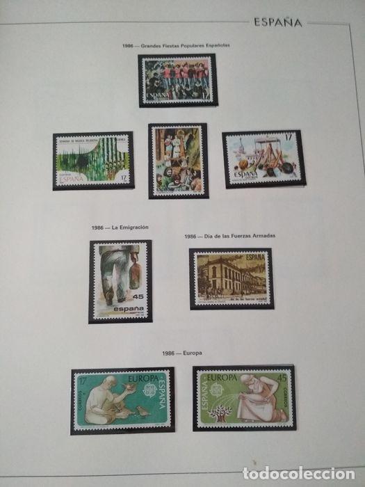 Sellos: España sellos año 1986 con Hojas Edifil 1986 montadas en negro HES80 86 LEER - Foto 3 - 212261147