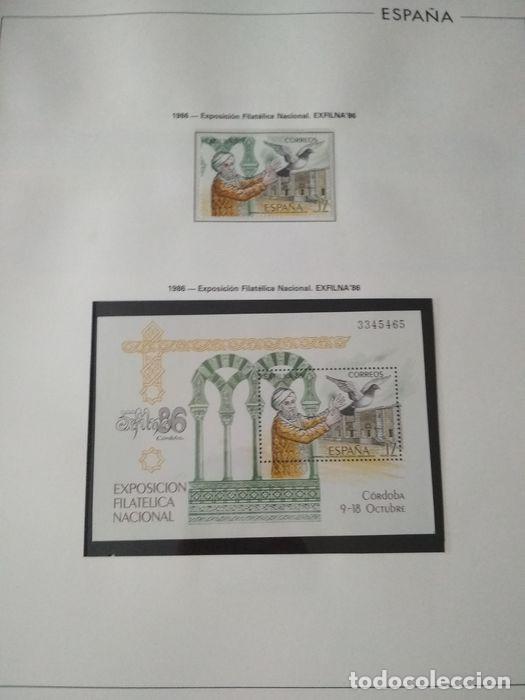 Sellos: España sellos año 1986 con Hojas Edifil 1986 montadas en negro HES80 86 LEER - Foto 5 - 212261147