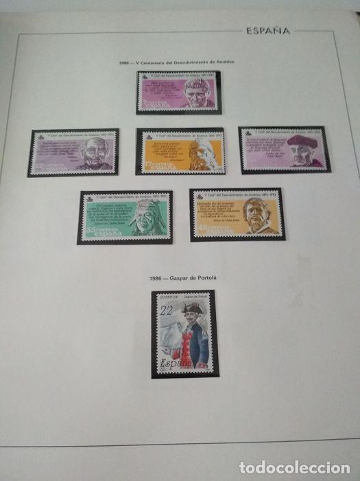 Sellos: España sellos año 1986 con Hojas Edifil 1986 montadas en negro HES80 86 LEER - Foto 6 - 212261147