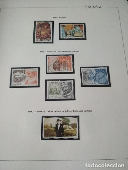 Sellos: España sellos año 1986 con Hojas Edifil 1986 montadas en negro HES80 86 LEER - Foto 7 - 212261147