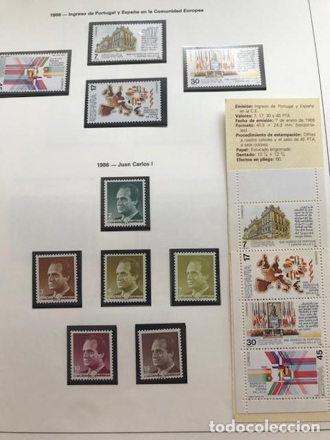 Sellos: España sellos año 1986 con Hojas Edifil 1986 montadas en negro HES80 86 LEER - Foto 8 - 212261147