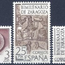 Sellos: EDIFIL 2319-2321 BIMILENARIO DE ZARAGOZA 1976 (SERIE COMPLETA). MNH **. Lote 220969756
