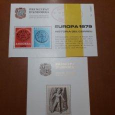 Selos: SELLOS ESPAÑA CONGRESOS Y EXPOSICIONES HOJITAS NUMERADAS. Lote 212831625