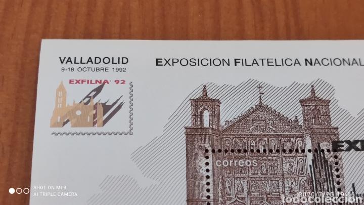 Sellos: HOJA BLOQUE EXFILNA 92, CON SELLO DE LA, EXPOSICIÓN, MUY DIFÍCIL, VER - Foto 2 - 212863511