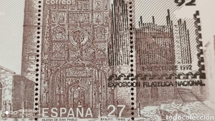Sellos: HOJA BLOQUE EXFILNA 92, CON SELLO DE LA, EXPOSICIÓN, MUY DIFÍCIL, VER - Foto 3 - 212863511