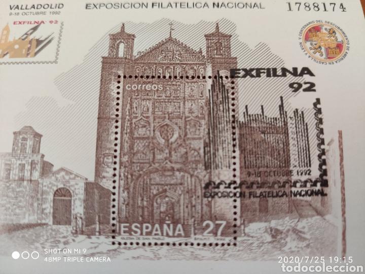 Sellos: HOJA BLOQUE EXFILNA 92, CON SELLO DE LA, EXPOSICIÓN, MUY DIFÍCIL, VER - Foto 6 - 212863511