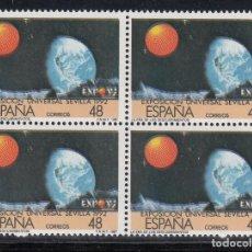 Sellos: ESPAÑA, 1987 EDIFIL Nº 2876ID /**/ VARIEDAD, COLORES DESPLAZADOS, BLOQUE DE CUATRO. Lote 213024182
