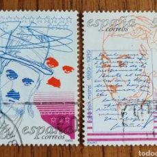 Sellos: N°3013/14 USADO, CENTENARIOS 1989(FOTOGRAFÍA ESTÁNDAR). Lote 213105090
