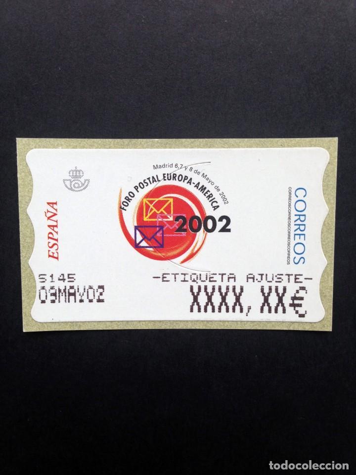 ESPAÑA.AÑO 2002. FORO POSTAL. ATMS ETIQUETA POSTAL DE AJUSTE ESTRECHA. (Sellos - España - Juan Carlos I - Desde 2.000 - Nuevos)