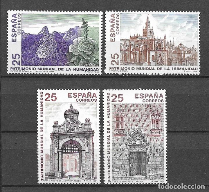 ESPAÑA, 1991, PATRIMONIO MUNDIAL DE LA HUMANIDAD, EDIFIL 3146-3149, NUEVOS, MNH** (Sellos - España - Juan Carlos I - Desde 1.986 a 1.999 - Nuevos)