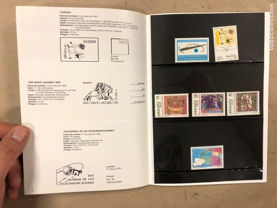 Sellos: EMISIONES DE SELLOS CORREOS Y TELÉGRAFOS ESPAÑA ANDORRA 1993. COMPLETO. - Foto 6 - 213720885