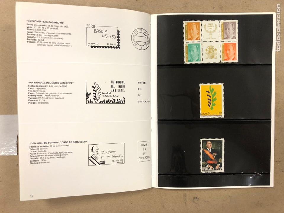 Sellos: EMISIONES DE SELLOS CORREOS Y TELÉGRAFOS ESPAÑA ANDORRA 1993. COMPLETO. - Foto 8 - 213720885