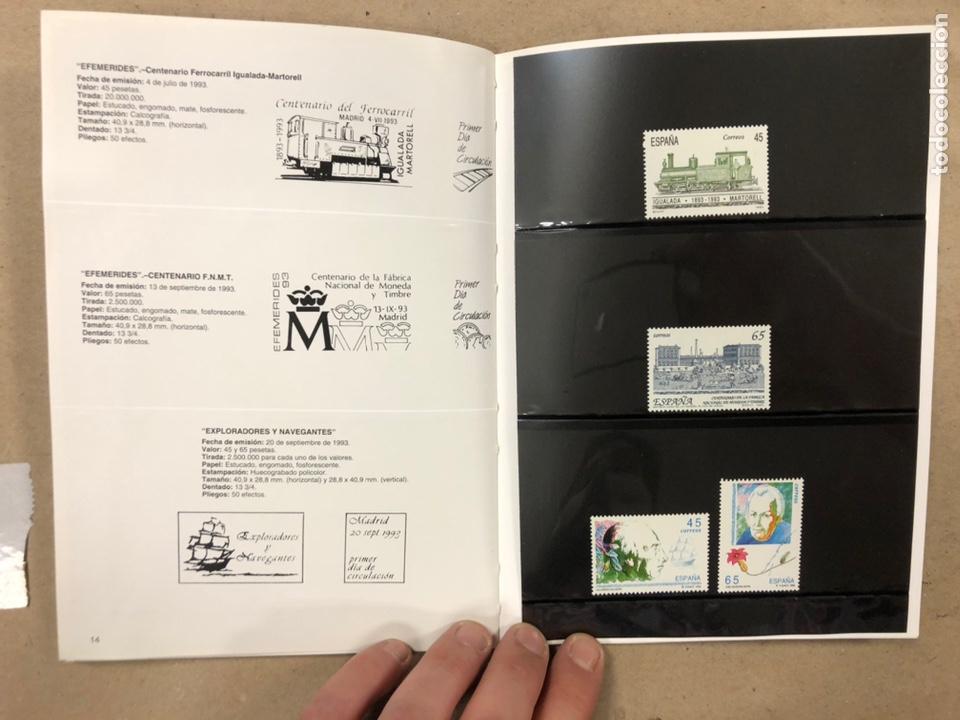 Sellos: EMISIONES DE SELLOS CORREOS Y TELÉGRAFOS ESPAÑA ANDORRA 1993. COMPLETO. - Foto 9 - 213720885