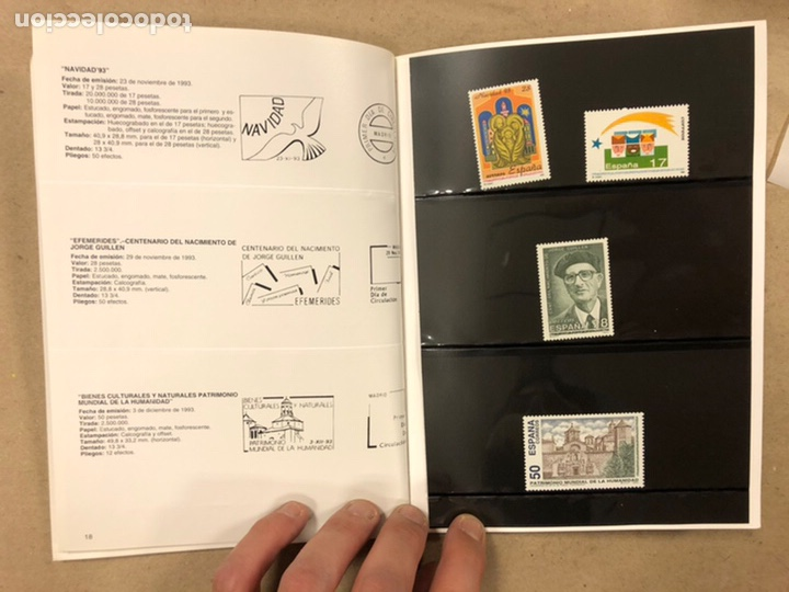 Sellos: EMISIONES DE SELLOS CORREOS Y TELÉGRAFOS ESPAÑA ANDORRA 1993. COMPLETO. - Foto 11 - 213720885