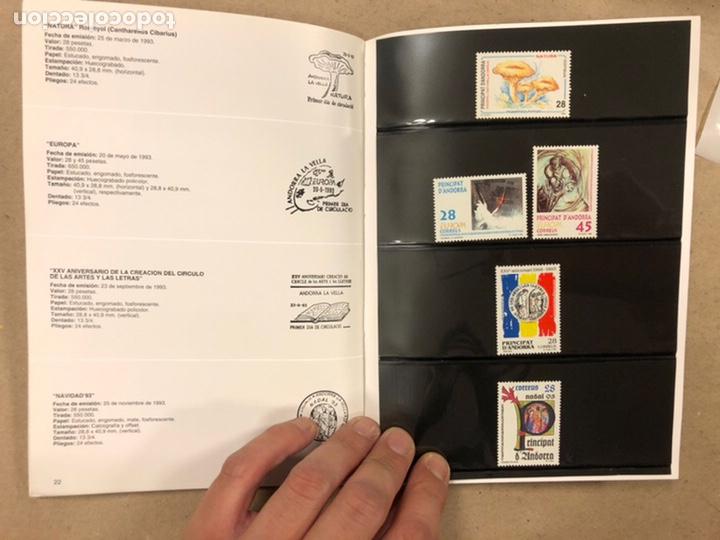 Sellos: EMISIONES DE SELLOS CORREOS Y TELÉGRAFOS ESPAÑA ANDORRA 1993. COMPLETO. - Foto 13 - 213720885