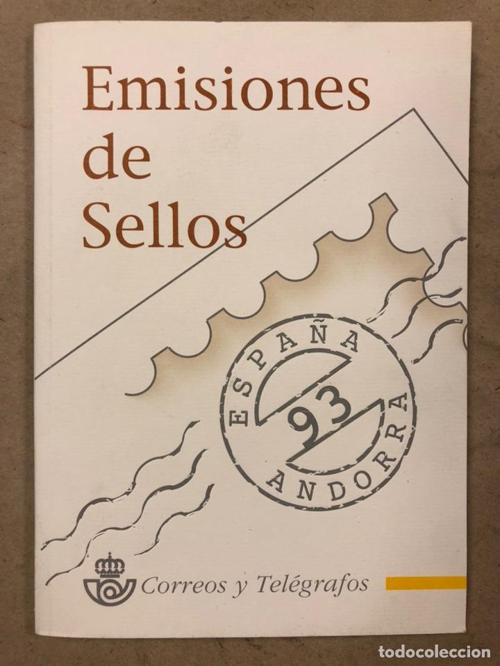 EMISIONES DE SELLOS CORREOS Y TELÉGRAFOS ESPAÑA ANDORRA 1993. COMPLETO. (Sellos - España - Juan Carlos I - Desde 1.986 a 1.999 - Nuevos)