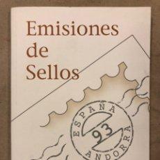 Sellos: EMISIONES DE SELLOS CORREOS Y TELÉGRAFOS ESPAÑA ANDORRA 1993. COMPLETO.. Lote 213720885