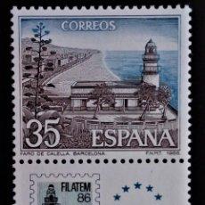 Sellos: ESPAÑA EDIFIL 2837 BANDELETA FILATEM CALELLA. Lote 213932657