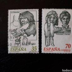 Sellos: ESPAÑA EDIFIL 3538/9 SERIE COMPLETA USADA. LITERATURA. LA CELESTIA. FORTUNATA Y JACINTA. 1998.. Lote 213933182