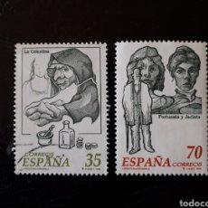 Sellos: ESPAÑA EDIFIL 3538/9 SERIE COMPLETA USADA. LITERATURA. LA CELESTIA. FORTUNATA Y JACINTA. 1998.. Lote 213933260