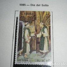 Sellos: ESPAÑA EDIFIL 2810*** - AÑO 1985 - DIA DEL SELLO - CORREO DE LAS ROTULAS. Lote 213977868