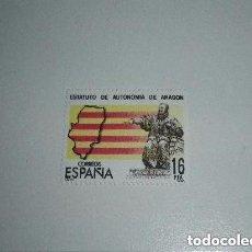 Sellos: ESPAÑA EDIFIL 2736 AÑO 1984 ESTATUTO DE AUTONOMÍA DE ARAGÓN NUEVO. Lote 213979488