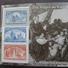 Sellos: -1992, JUEGO DE HOJITAS BLOQUE COLON Y EL DESCUBRIMIENTO, EDIFIL 3204/09. Lote 214244986